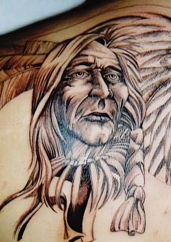 indianer tattoos anmut der amerikanischen ureinwohner. Black Bedroom Furniture Sets. Home Design Ideas