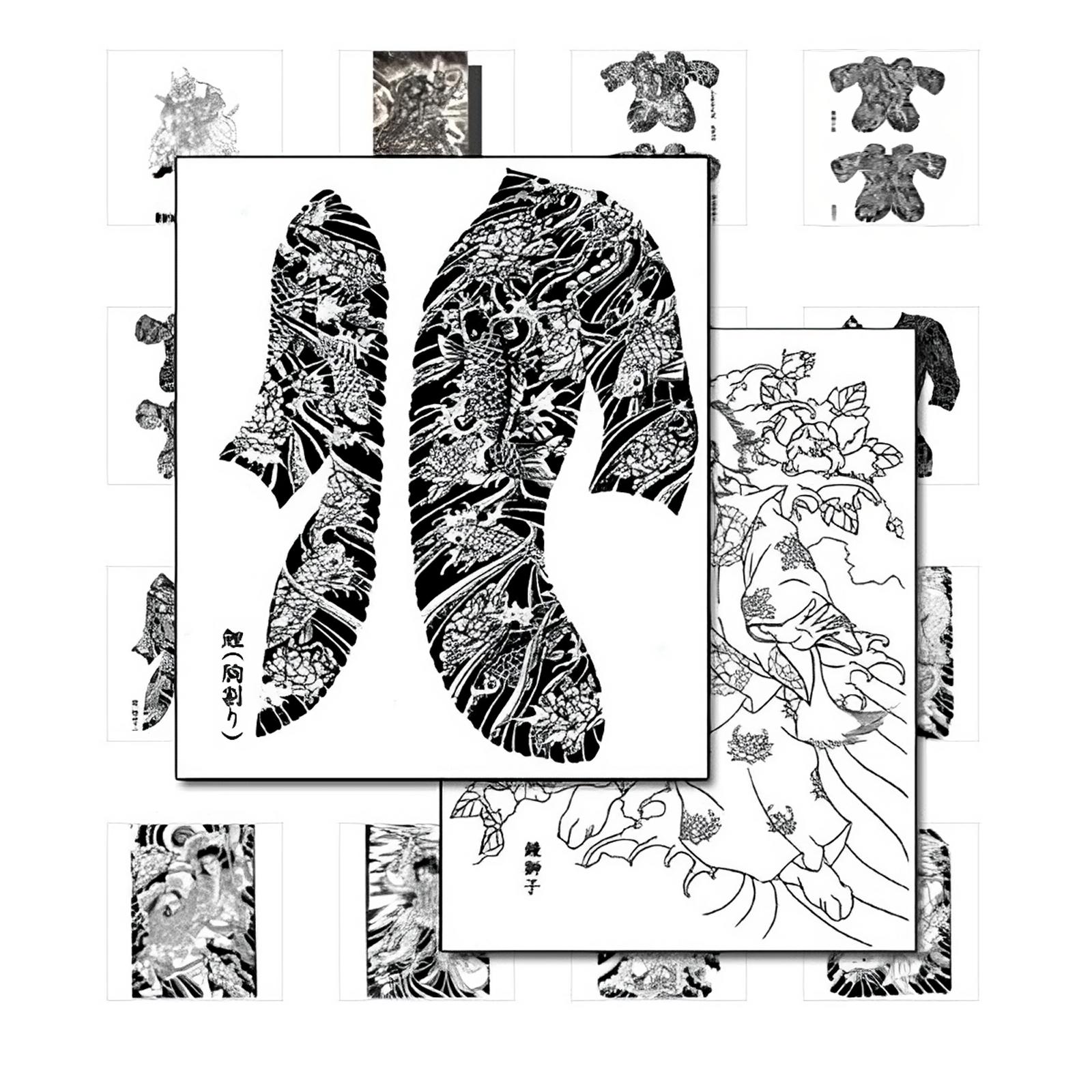 japanische tattoo vorlagen d monen und helden. Black Bedroom Furniture Sets. Home Design Ideas