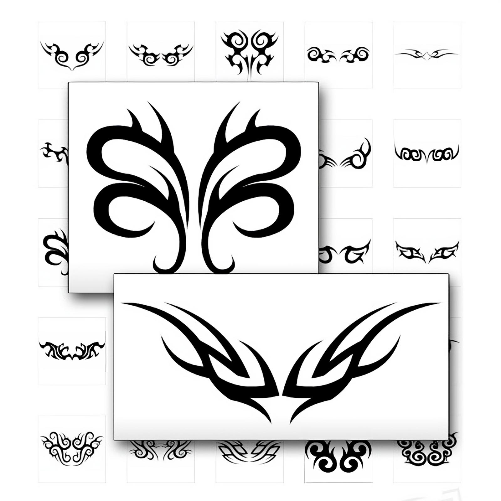 Schwarze Tribal Tattoo Vorlagen Auch Für Das Steißbein