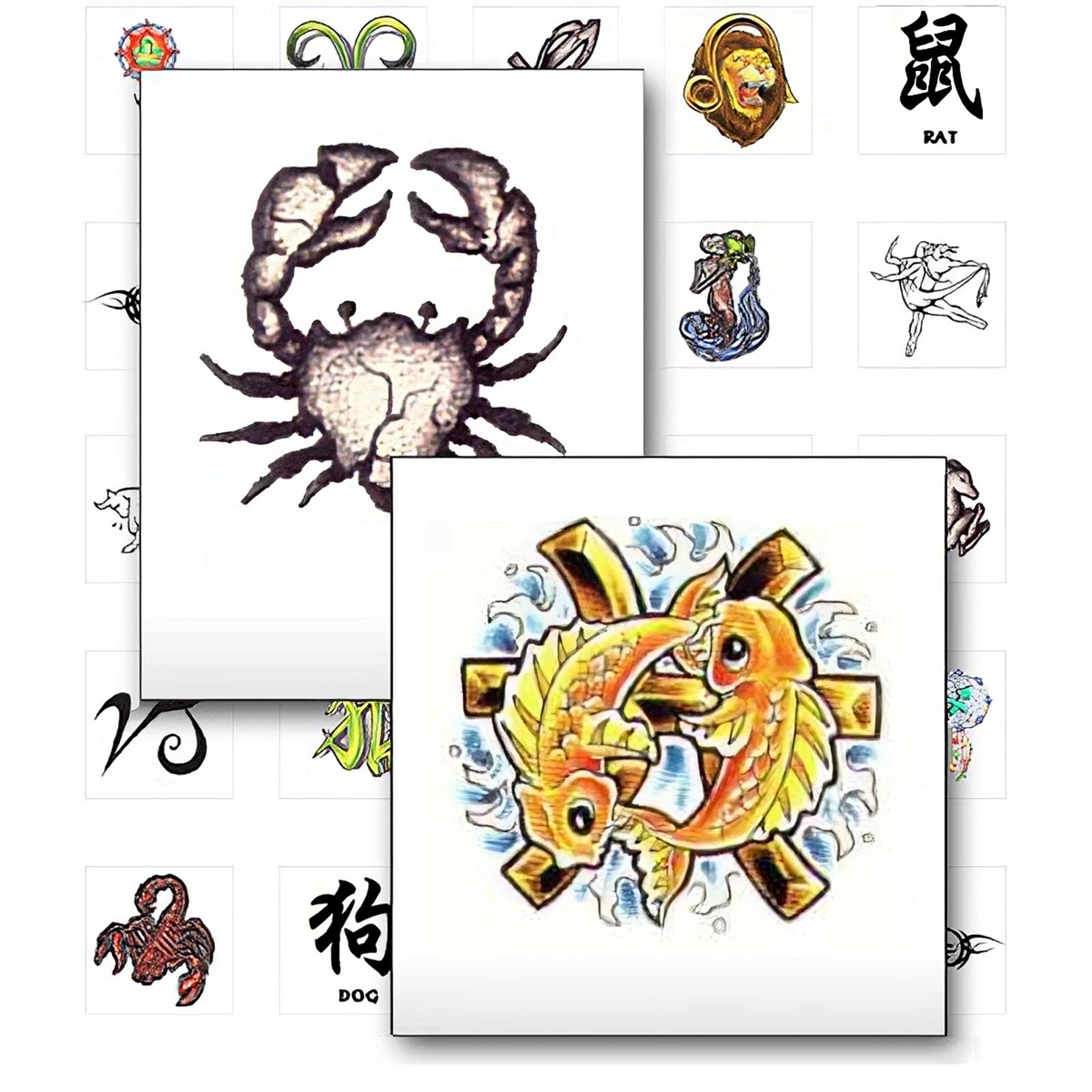 sternzeichen tattoo vorlagen zodiak und chinesischer tierkreis